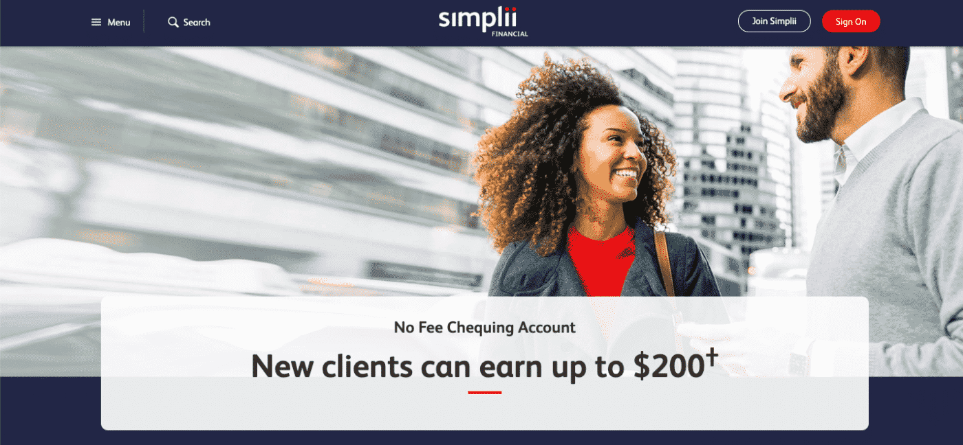 Simplii Financial No Fee Chequing Account