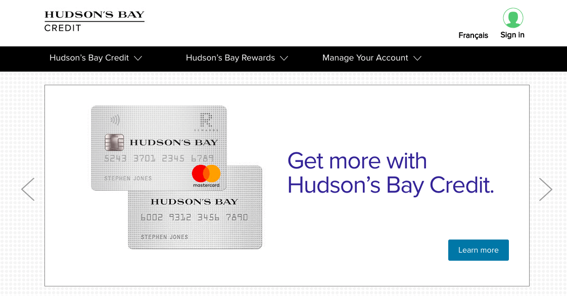 Hudson's Bay Credit Card