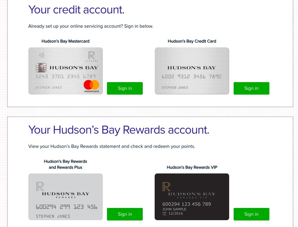 Hudson's Bay Reward Card