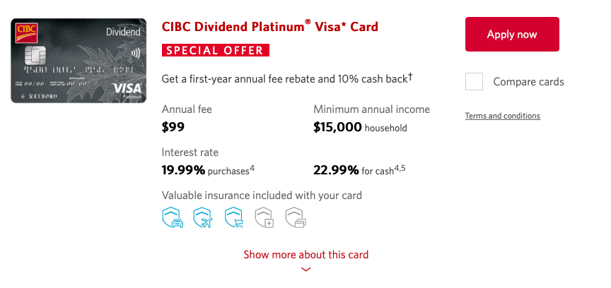 CIBC Dividend Platinum Visa Credit Card