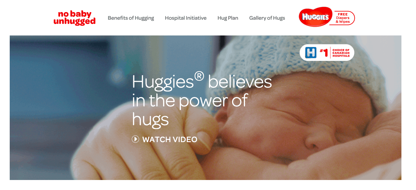 Huggies No Baby Unhugged
