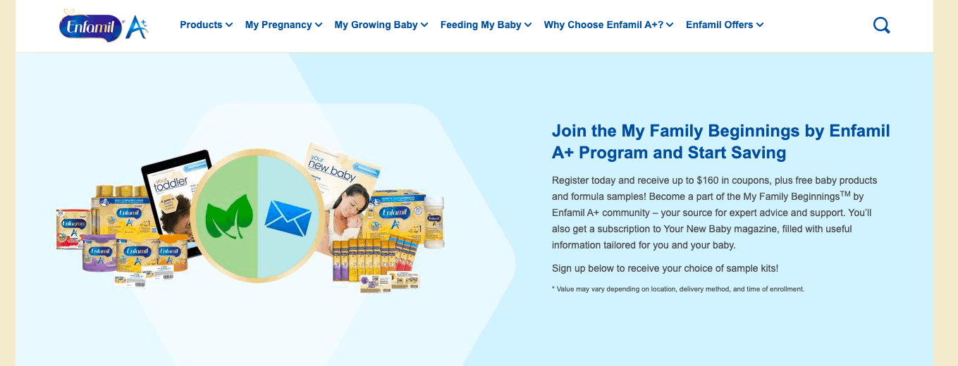 Enfamil's My Family Beginnings