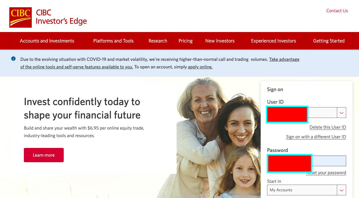 cibc investors edge account