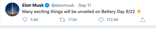 Battery day tweet